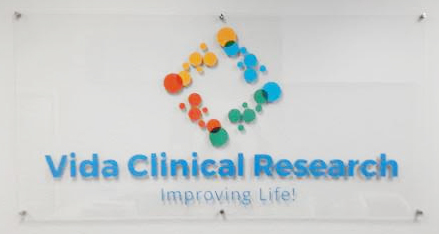 Vida Clinical Clear Acrylic with vinyl sign