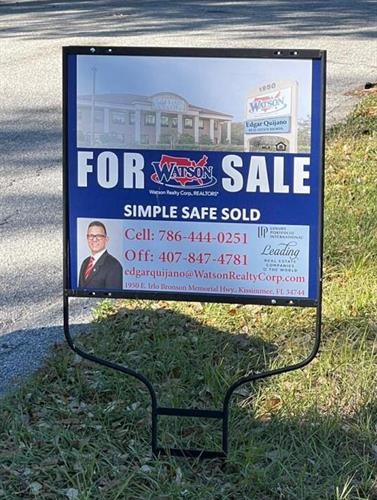 Watson Realty For Sale Sign