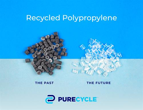 Traditionally Recycled Plastic Compared to PureCycle Recycled Plastic