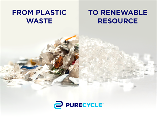 We turn stadium trash into ultra pure recycled plastic.