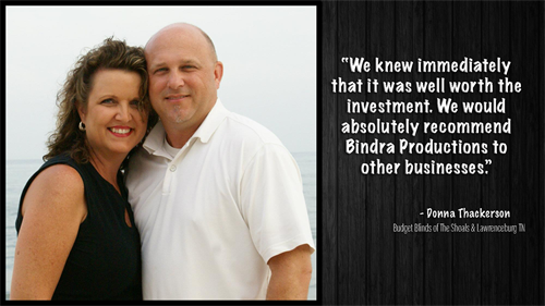 Testimonial from Donna Thackerson and Budget Blinds of The Shoals and Lawrenceburg TN.