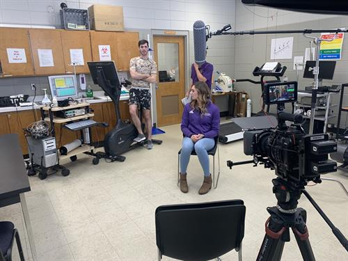 Filming for the Department of Kinesiology at the University of North Alabama.