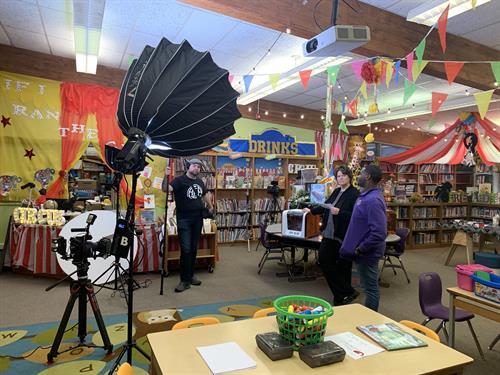 Filming at Kilby Laboratory School.