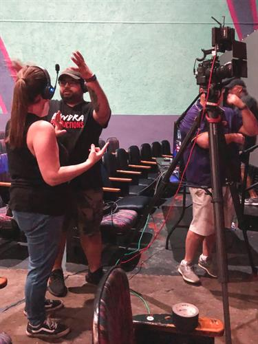 Behind the scenes before Live Switching for a TedX Talk.