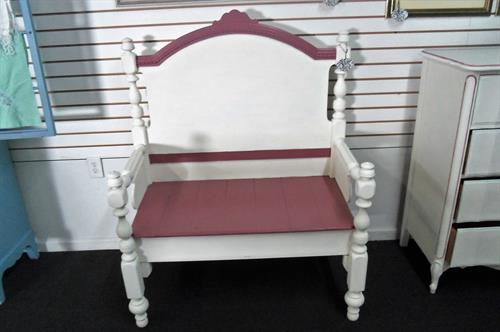 We design gorgeous headboard benches! Bring 1 in, and we'll customize for you!