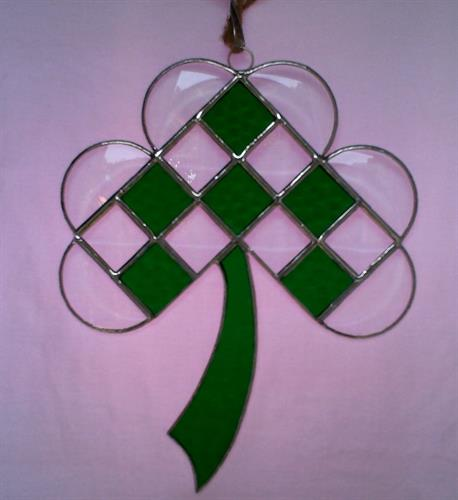Stained Glass Shamrock