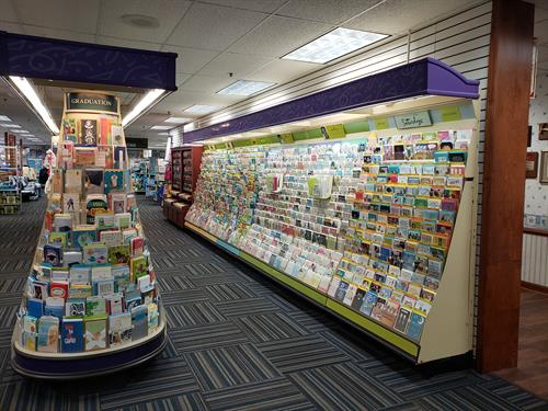 Huge Display of Hallmark Cards on Second Floor