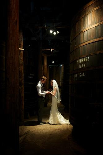 The huge redwood barrels in our old barrel room, provide a stunning background for photos as well as an intimate setting for special events for 2-50 people