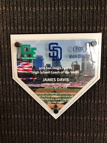 Home plate plaque w/ printed picture and printed raised acylic piece
