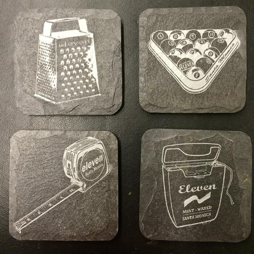 Slate Coasters w/ gray inlay