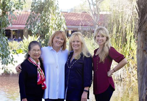 Leslie, Binny, Raquel, Kristen - the four pillar of our team.