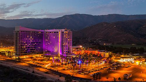 Stunning Night shot of Harrah's Resort SoCal