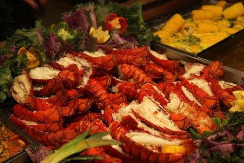 Fresh Maine lobster is served every night alongside over 200 other delicious options at the Buffet at Valley View Casino & Hotel.