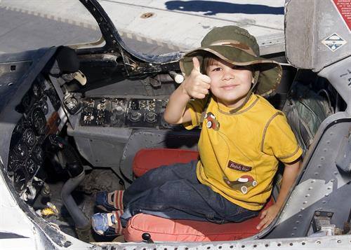 USS Midway Museum-Child-Cockpit