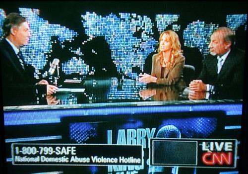 Larry King Set - Interviewed by Jim Moret with Mark Geragos