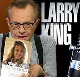 Larry King Promoting My Book - Finding Peace Amid The Chaos: My Escape From Depression and Suicide