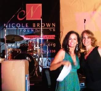 Denise and I at The Nicole Brown Foundation at the Playboy Mansion