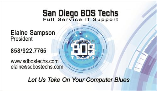 San Diego BOS Techs Card
