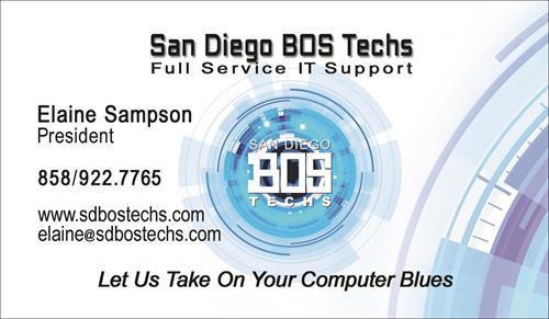 San Diego BOS Techs Card
