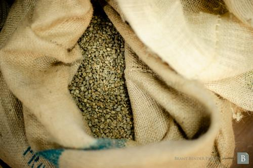 Our beans come to us green, Direct Trade primarily from Central American and African farms
