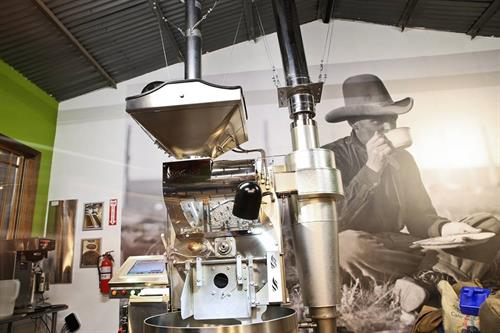Our Loring roaster is a workhorse, made in California, energy effecient and environmenrally friendly