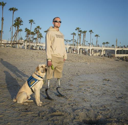 Veteran with assistance dog