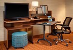 Smart T.V. & Work Desk with Ergonimic Chair