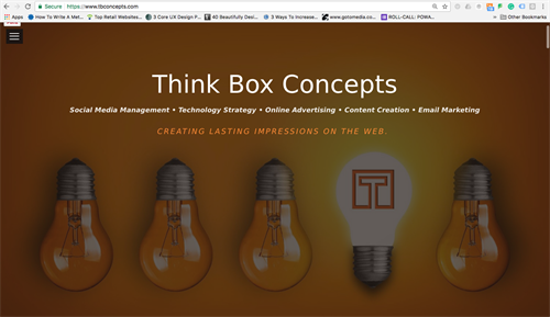 Think Box Concepts Website