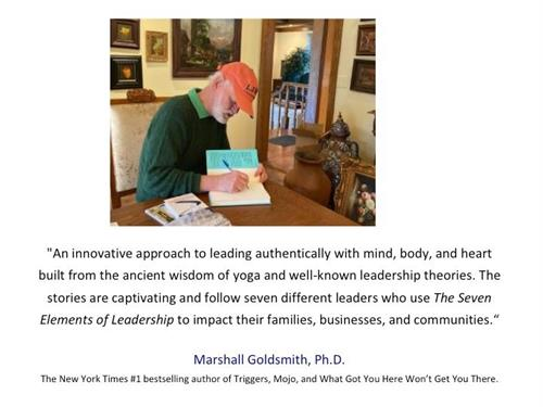 The Yogi Leader book was endorsed by Dr. Marshall Goldsmith