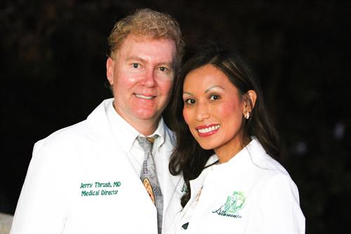 Drs. Jerry Thrush, MD and Jenilyn Peros DNP, FNP-C, MSN