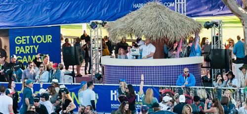So, the Post Party presented by Harrah's Resort SoCal keeps it FUNNER until sunset.