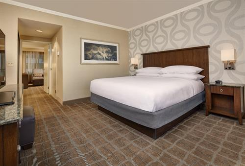 Everyone enjoys a one-room suite at the Embassy Suites