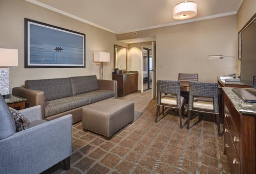 Our standard suites offer 510 sq. ft. of comfort and leg room