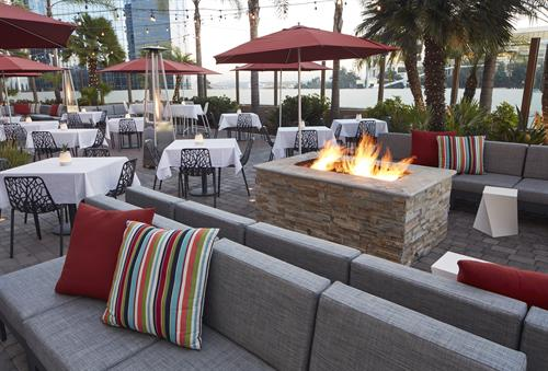 Enjoy San Diego with comfortable seating, fire pits, and great weather
