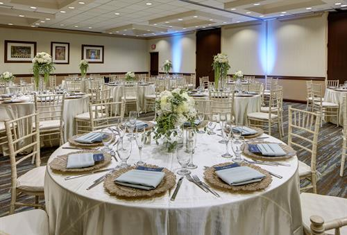 Embassy Ballroom is an ideal space for your next celebration - whether its for 10 people or 200, we got you covered