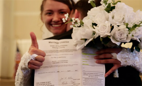 Bride with Marriage contract