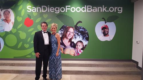My better half Retired Marine Col. Richie Coleman at the Food Bank's amazing gala!