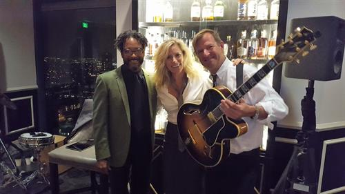 Playing with some great musicians at The University Club