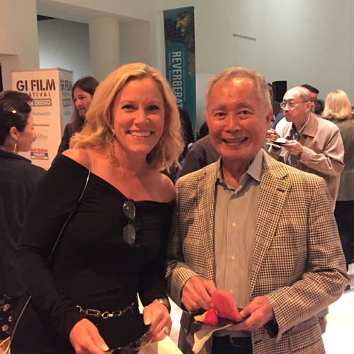 With George Takei at the GI Film Festival (I served on the advisory committee in 2019)