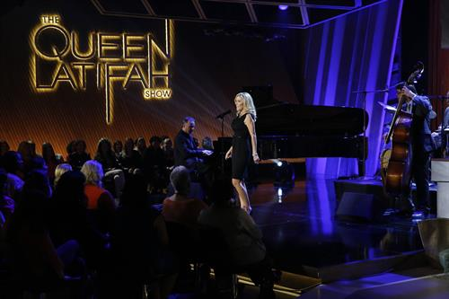 Singing on The Queen Latifah Talk Show