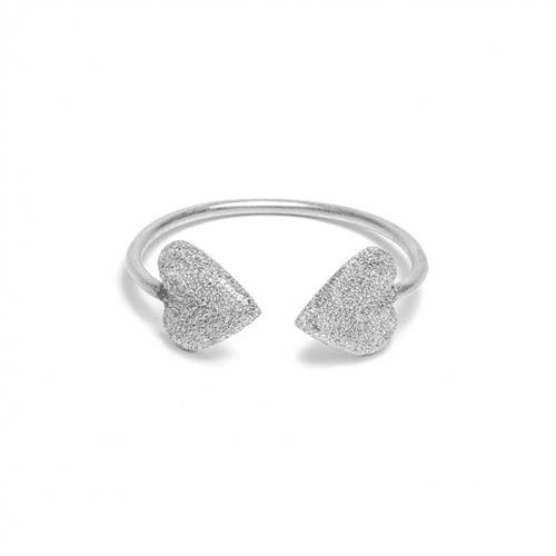 Sparkle heart cuff, recycled sandblasted aluminum