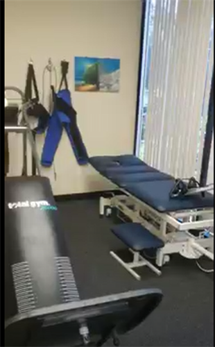 Yep! We have a traction table and a total gym. Great machines for rehab