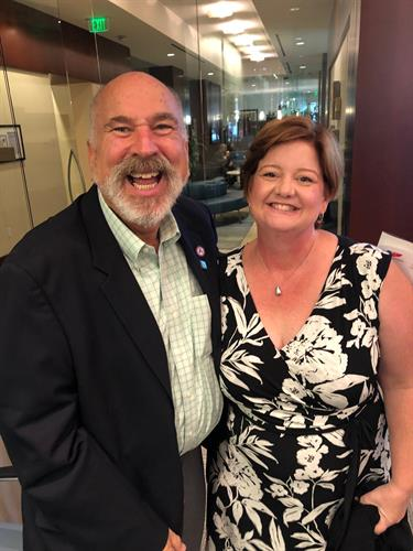 Terry Cunningham, MAOM, Board President of the Liver Coalition of San Diego and Catherine Frenette, MD, Chair of LCSD's Medical Advisory Council