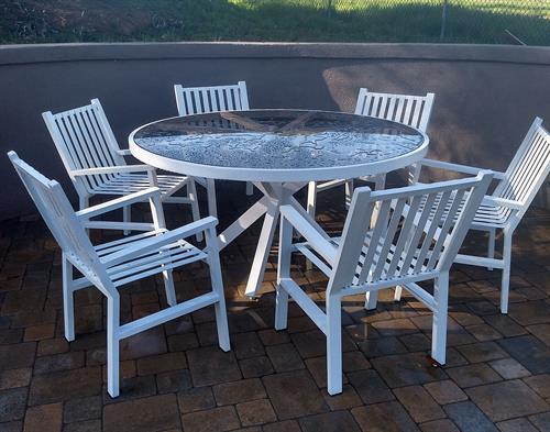 6ft custom patio table set