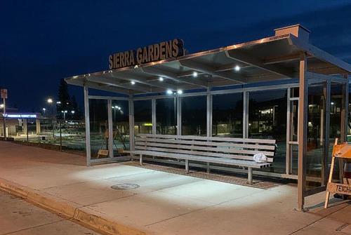 21 foot  Custom Solar Bus Shelter