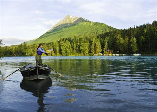 Guided Drift Boat Fishing Upper Kenai with Alaska Rivers Company