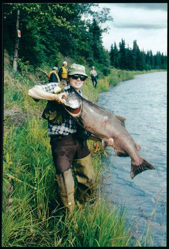 A 50#-Plus Kenai King Caught Off The Bank