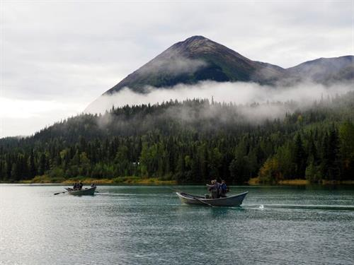 Boats out on the Upper Kenai River