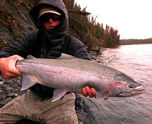 Guide Josh Abrams with Rainbow Trout