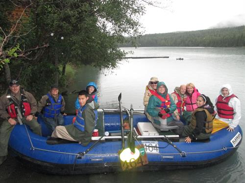 Family about to Launch for Rafting Trip on the Kenai